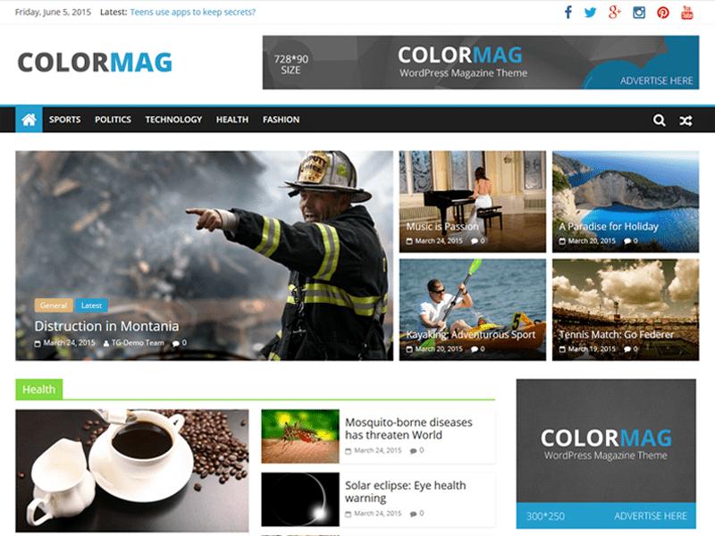 網站開發 _ ColorMag
