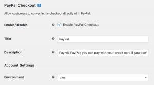 paypal checkout setup